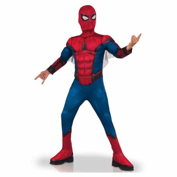 Avec ce costume, les enfants vont pouvoir entrer dans la peau du célèbre homme araignée : Spiderman. Cette panoplie sera parfaite lors d´une soirée déguisée, un carnaval ou pour jouer entre amis. Elle comprend une combinaison imprimée avec torse 3D EVA re