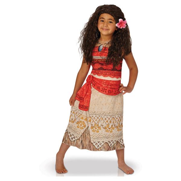 Avec cet ensemble qui se compose d´un déguisement et d´une perruque votre enfant pourra ressembler à son héroïne de Disney Vaiana. Cette panoplie sera parfaite lors d´une soirée déguisée; un carnaval ou pour jouer entre amis. Ce costume comprend une robe