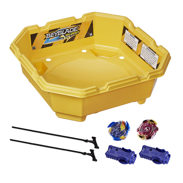 beyblade set de combat 2 joueurs hasbro king jouet toupies yo yo jeux de r cr ation. Black Bedroom Furniture Sets. Home Design Ideas