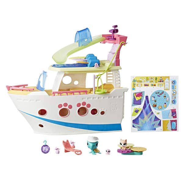 littlest petshop bateau de croisi re hasbro king jouet figurines hasbro jeux d 39 imitation. Black Bedroom Furniture Sets. Home Design Ideas