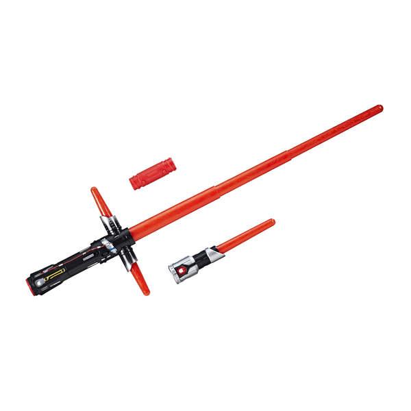 Combattez le coté obscur de la Force avec le sabre de Kylo Ren ! Incarnez Kylo Ren avec ce sabre laser électronique; télescopique; lumineux et sonore qui se déploie d´un simple mouvement de poignet pour un duel. Le sabre KYLO REN est inédit dans l´univers