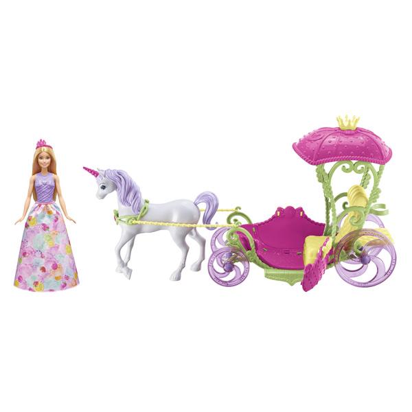 Barbie princesse et sa cal che mattel king jouet - Caleche barbie ...