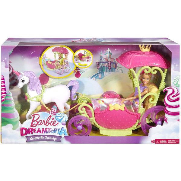 Barbie princesse et sa cal che mattel king jouet - Barbie caleche ...