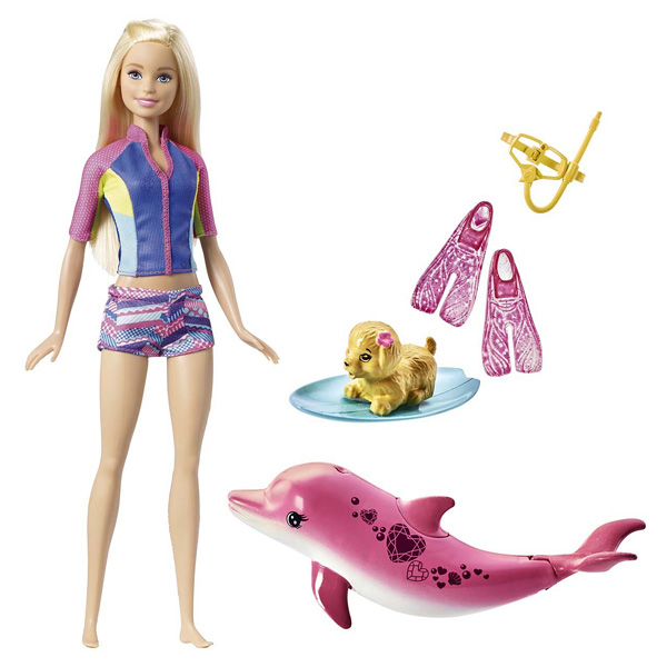 Toys For 7 And Up Mane Provided : Barbie et son dauphin magique mattel king jouet poupées