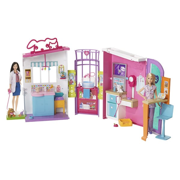 Barbie clinique v t rinaire mattel king jouet poup es - Barbie veterinaire ...