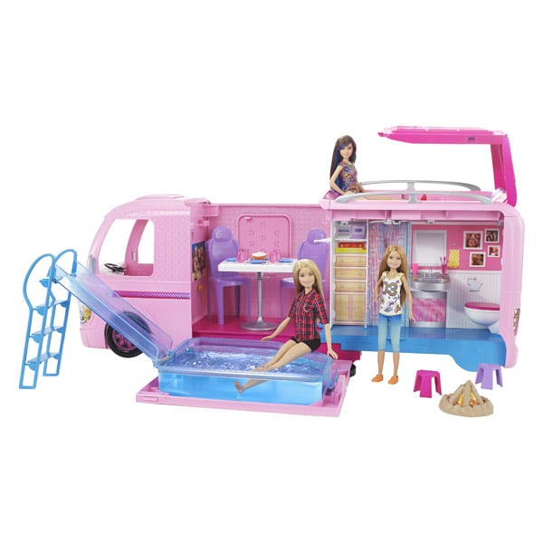 barbie camping car transformable poup es mannequins king jouet. Black Bedroom Furniture Sets. Home Design Ideas