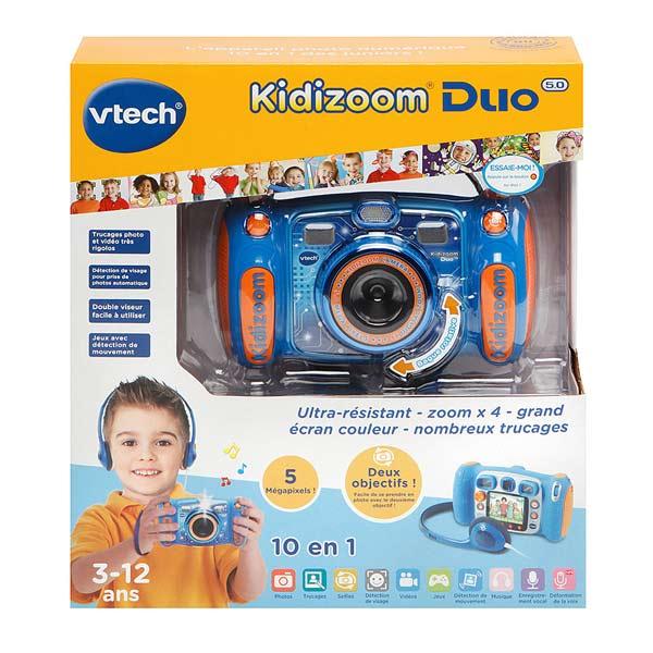 appareil photo kidizoom duo 5 0 bleu vtech king jouet. Black Bedroom Furniture Sets. Home Design Ideas