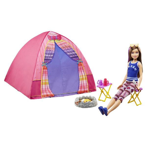 barbie poup e avec tente et accessoires mattel king. Black Bedroom Furniture Sets. Home Design Ideas