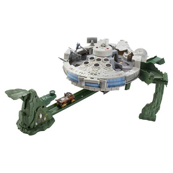 star wars piste millenium falcon hot wheels mattel king jouet voitures radiocommand es. Black Bedroom Furniture Sets. Home Design Ideas