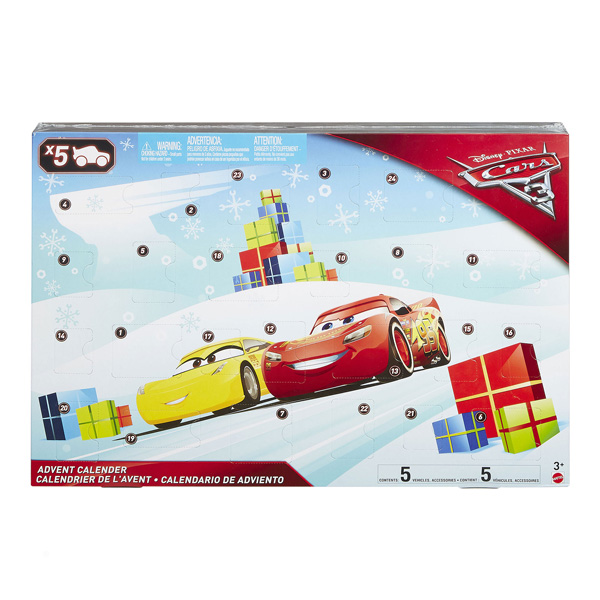 calendrier de l 39 avent cars 3 mattel king jouet calendriers de l 39 avent mattel f tes d co. Black Bedroom Furniture Sets. Home Design Ideas