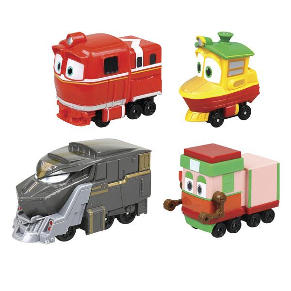 Retrouvez les petits amis de Robot Trains ! Bienvenue à Train World ! Un monde où seuls les trains peuvent accéder… Retrouvez les héros de Train world : Kay , Duck , Alf , Selly et Victor ! Chacun d'eux a un rôle dans la ville : vitesse, eau , tout-terrai