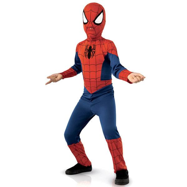 Spiderman-Déguisement avec couvre bottes 5/6 ans