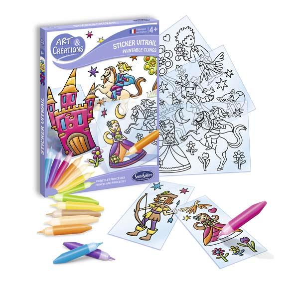 Stickers vitraux Prince et Princesses