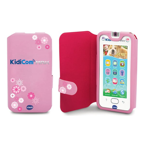 kidicom max etui de protection rose vtech king jouet