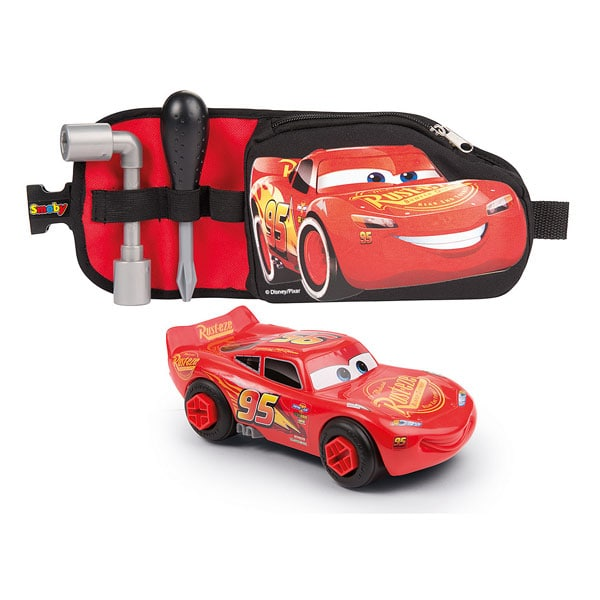 Ceinture Outils Cars 3 + Voiture Flash McQueen Smoby : King Jouet ...