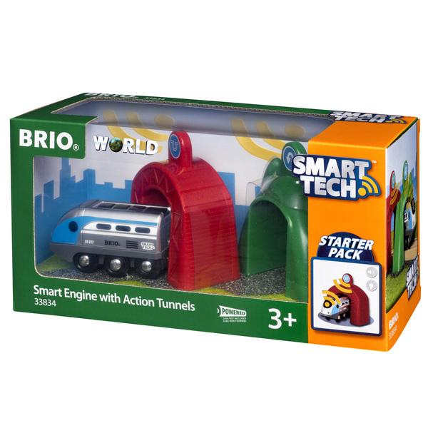Brio 33834-Locomotive intelligente et portiques Smart Tech