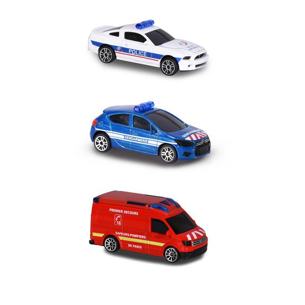voiture sos flashers majorette 1/64 majorette : king jouet, voitures