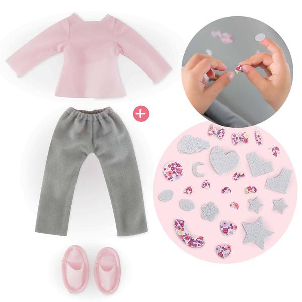 Ma Chérie Création ensemble pyjama et chaussons Corolle