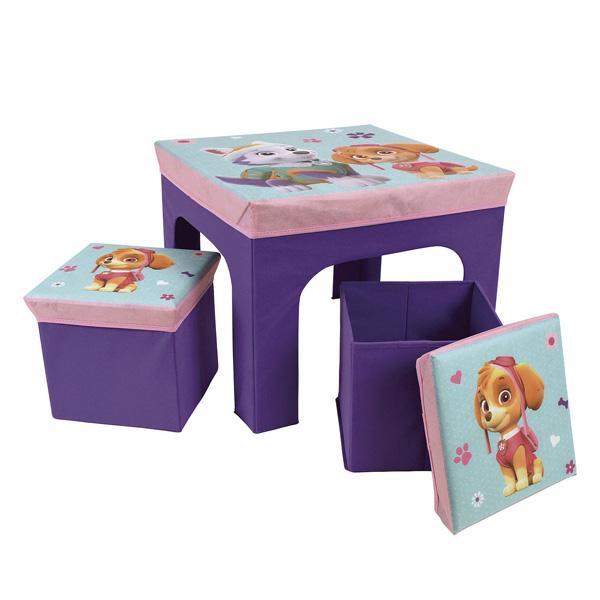 table et tabourets stella et everest pat 39 patrouille fun house king jouet d coration de la. Black Bedroom Furniture Sets. Home Design Ideas