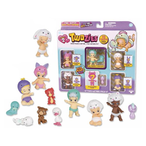 Twozies 2-Amiamis 6 bébés et 6 animaux