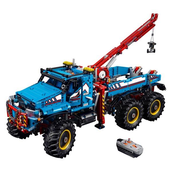 42070 lego technic d panneuse tout terrain 6x6 t l command e lego king jouet lego. Black Bedroom Furniture Sets. Home Design Ideas