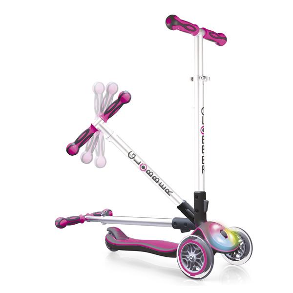 Trottinette 3 roues lumineuse Elite rose