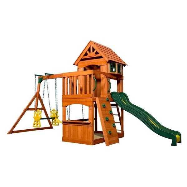 aire de jeu atlantis backyard discovery king jouet portiques balan oires et toboggans. Black Bedroom Furniture Sets. Home Design Ideas