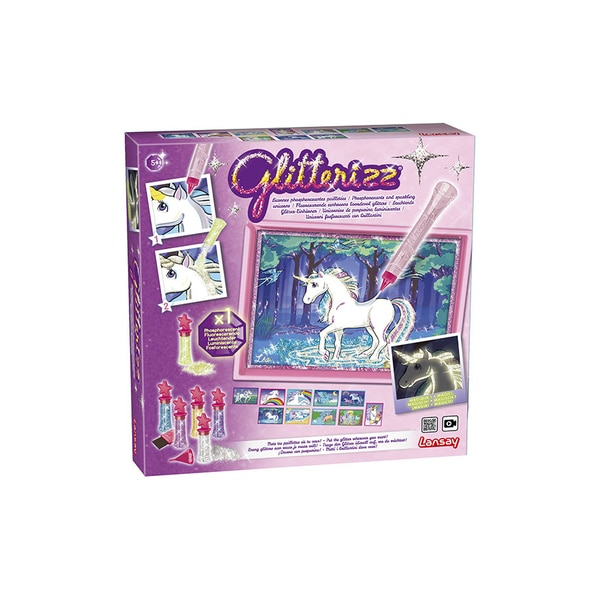 Glitterizz-Licornes phosphorescentes pailletées