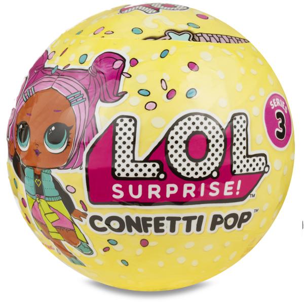 boule lol surprise confettis pop splash toys king jouet figurines et cartes collectionner. Black Bedroom Furniture Sets. Home Design Ideas