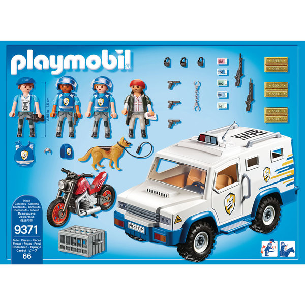 9371- Fourgon blindé avec convoyeurs Playmobil City Action