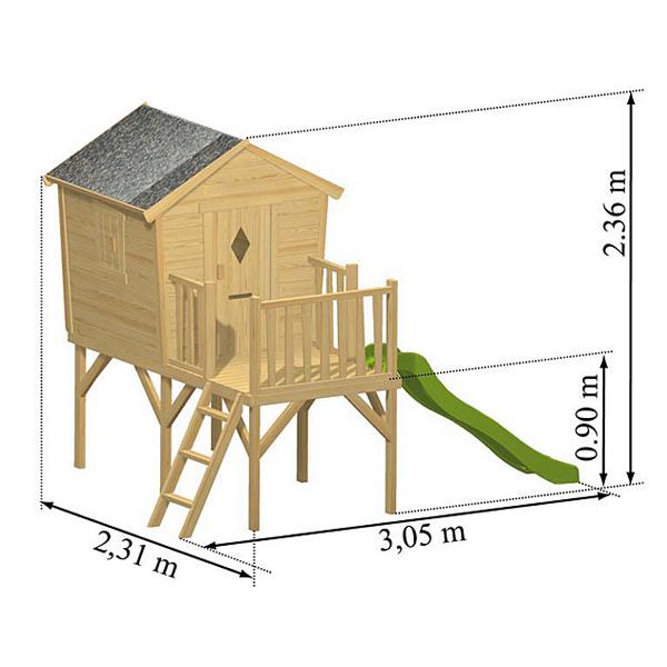 Maison en bois Morgane