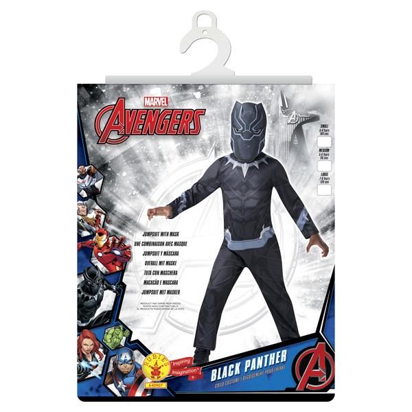 Avengers - Déguisement Classique Black Panther 5/6 ans