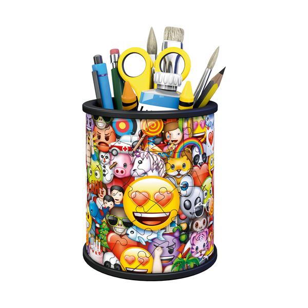 Puzzle 3D pot à crayons 54 pièces emoji