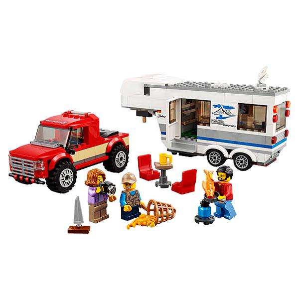60182-LEGO® Le pick-up et sa caravane