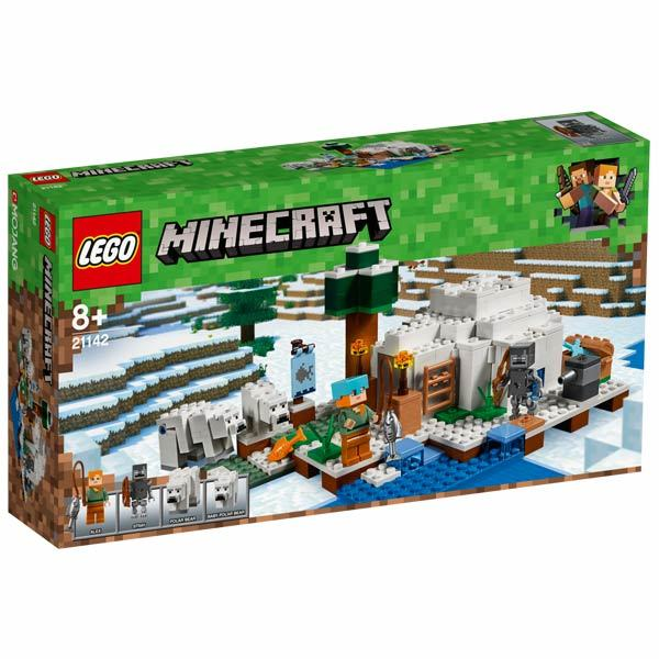 21142 lego minecraft l 39 igloo lego king jouet lego planchettes autres lego jeux de. Black Bedroom Furniture Sets. Home Design Ideas