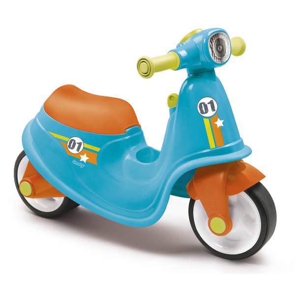 Porteur enfant scooter avec roues silencieuses