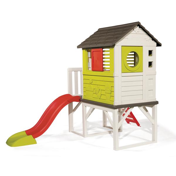 maison pilotis aire de jeux et toboggan smoby king jouet maisons tentes et autres smoby. Black Bedroom Furniture Sets. Home Design Ideas