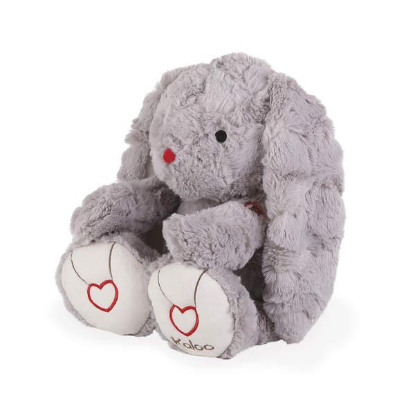 Rouge Kaloo-Peluche lapin gris 38 cm