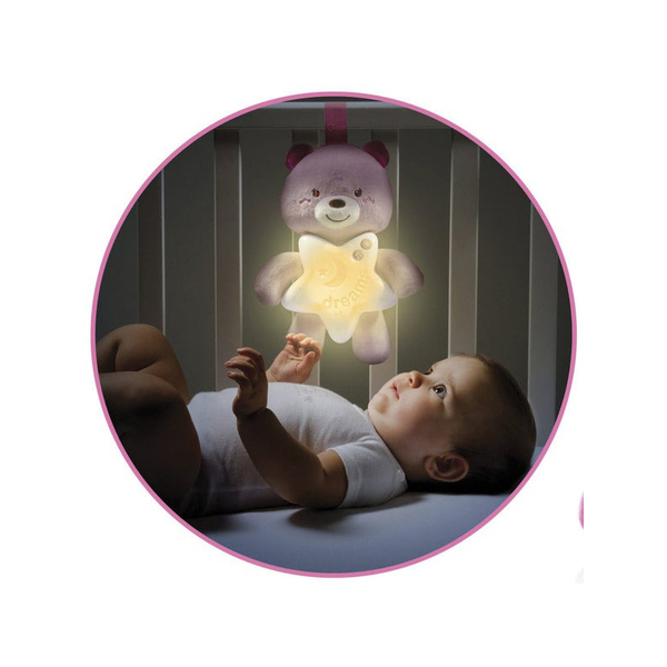 Ourson Bonne Nuit Rose - First Dream
