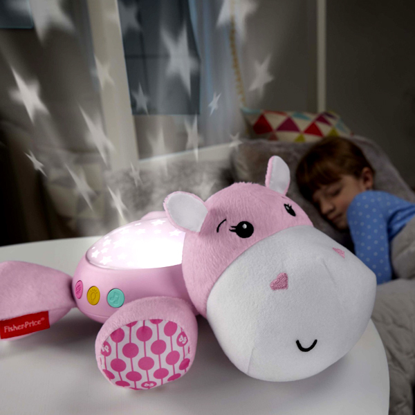Veilleuse Hippo douce nuit rose