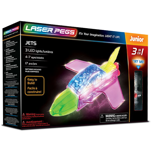 Laser Pegs - Jets 3 In 1
