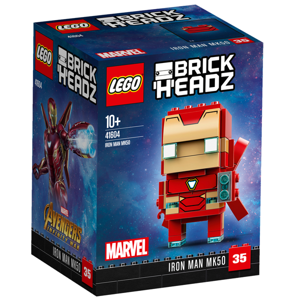 41604-Figurine BrickHeadz Iron Man MK50