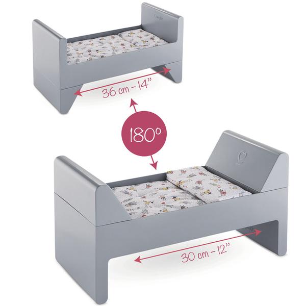 lit volutif pour poupon corolle king jouet poupons b b s corolle poup es peluches. Black Bedroom Furniture Sets. Home Design Ideas