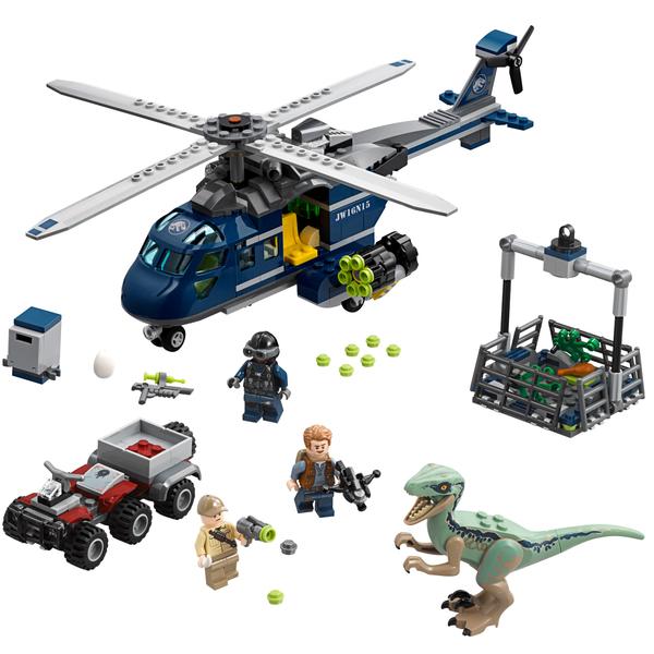 75928 - LEGO® JURASSIC - La poursuite en hélicoptère de Blue