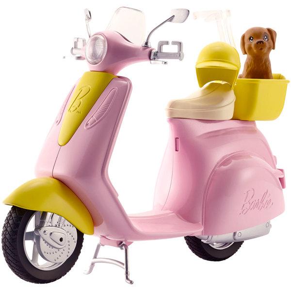 Barbie scooter et son petit chien mattel king jouet accessoires de poup es mattel poup es - Barbie et son chien ...