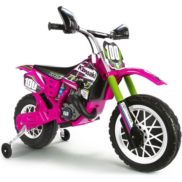 Moto électrique Kawasaki 6V rose