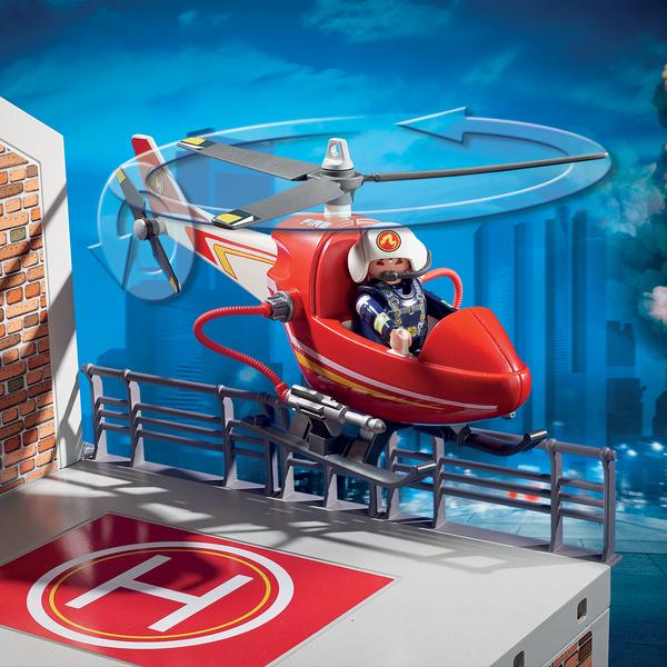 9462 - Caserne de pompiers et hélicoptère Playmobil City Action