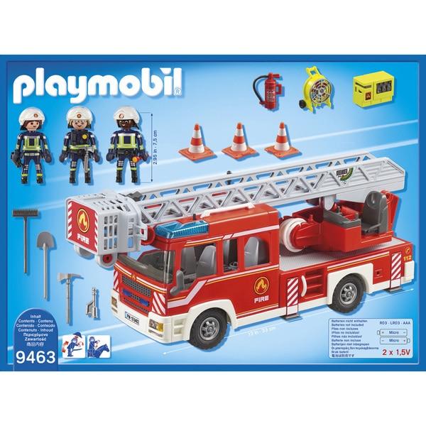 9463 - Camion pompiers échelle pivotante Playmobil City Action