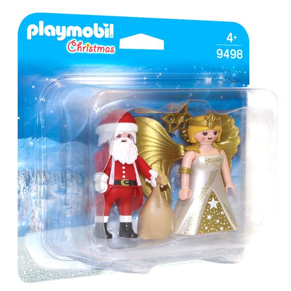 Playmobil 9498 Pack Père Noël et anges Duo Noël Christmass