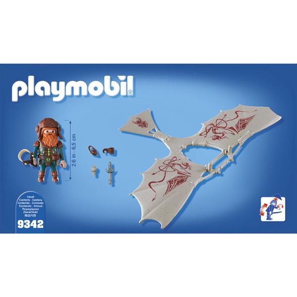 9342- Nain avec deltaplane Playmobil Knights